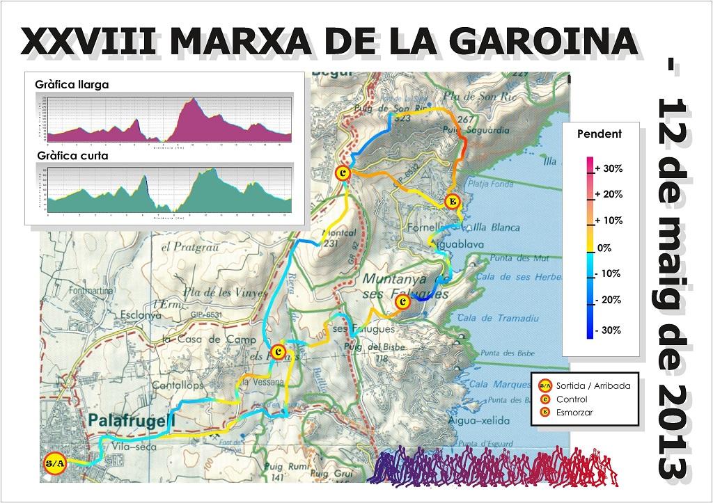 Plànol Marxa Garoina 2013